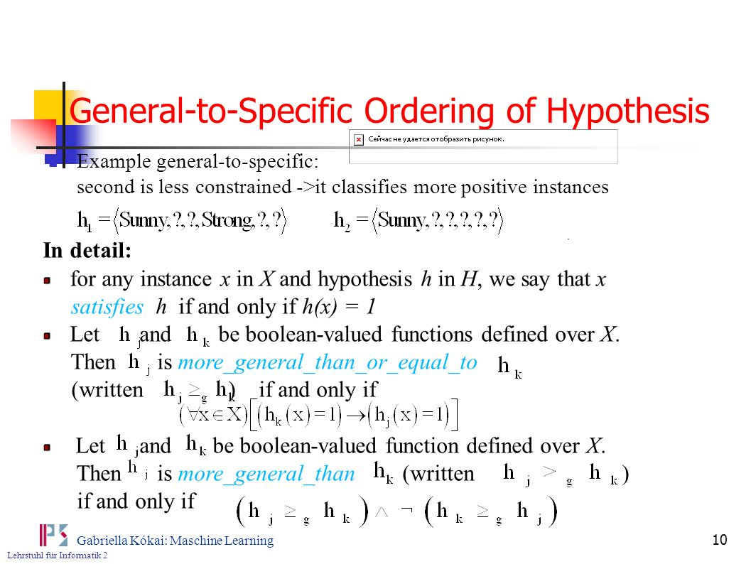 General-to-Specific Ordering of Hypothesis