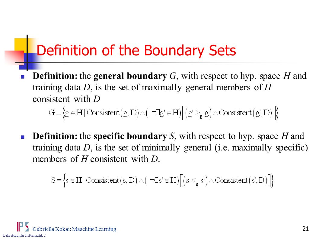 Definition of the Boundary Sets