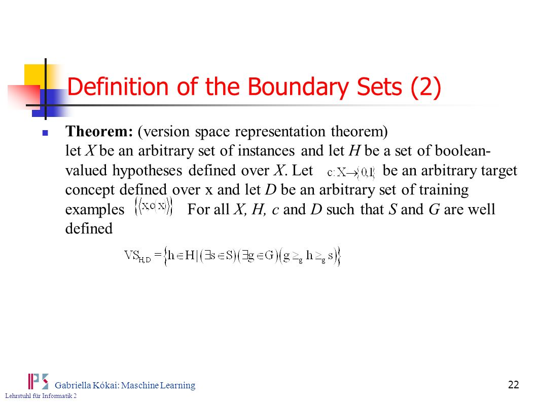 Definition of the Boundary Sets (2)