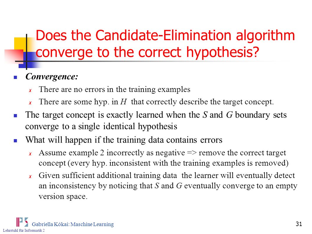 Does the Candidate-Elimination algorithm converge to the correct hypothesis