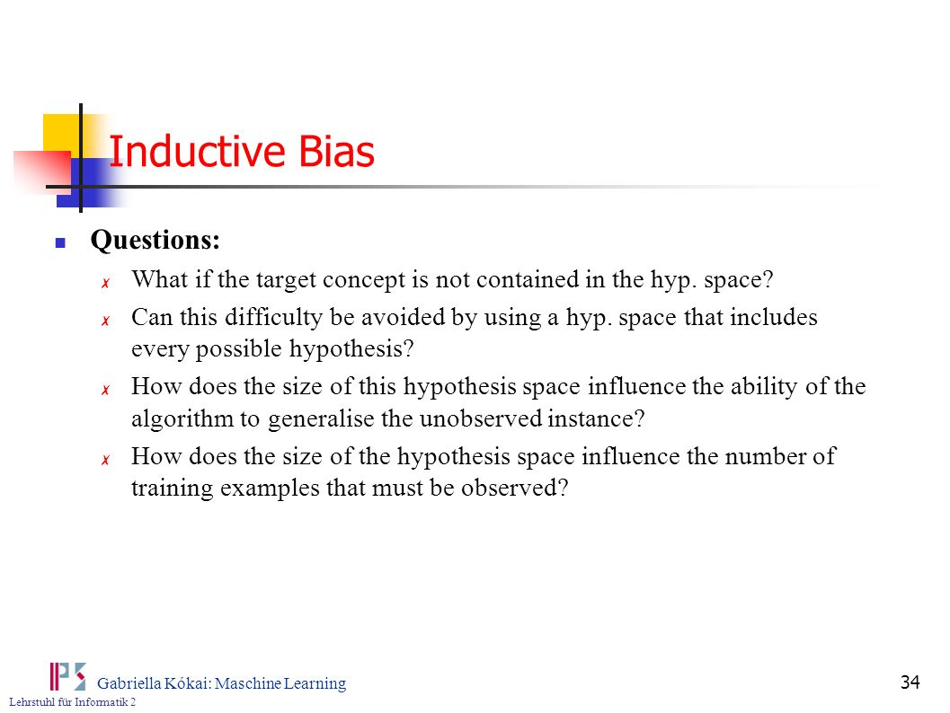 Inductive Bias Questions: