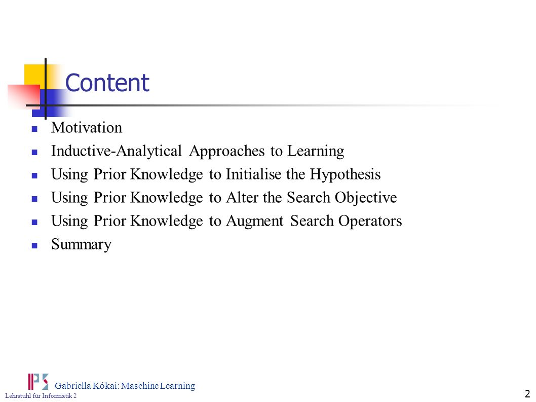 Content Motivation Inductive-Analytical Approaches to Learning