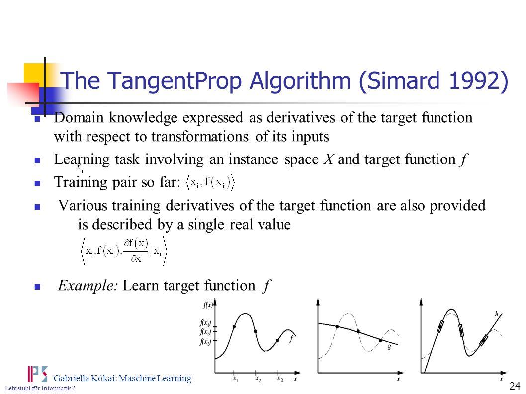 The TangentProp Algorithm (Simard 1992)