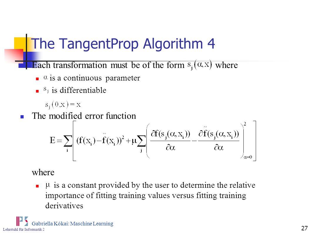 The TangentProp Algorithm 4