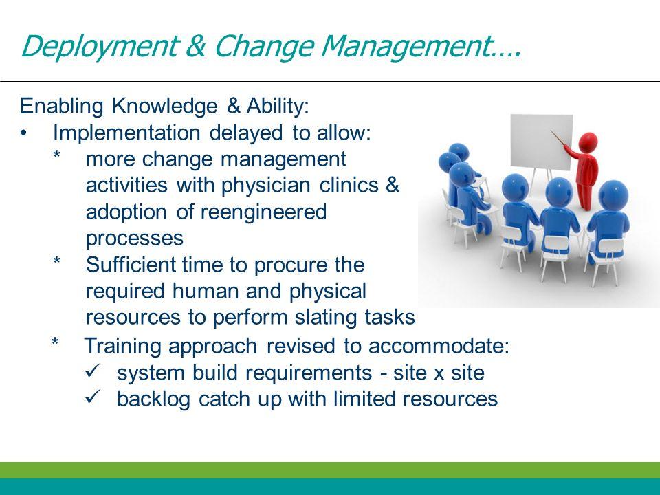 Deployment & Change Management….