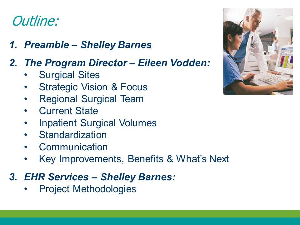 Outline: Preamble – Shelley Barnes