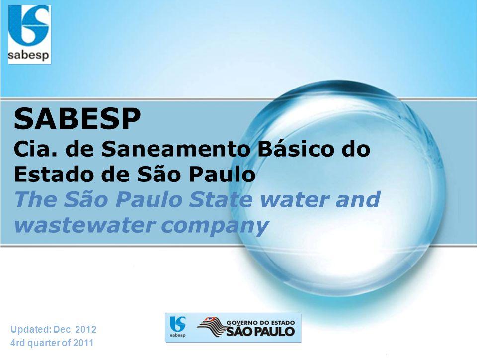 SABESP Cia. de Saneamento Básico do Estado de São Paulo The São Paulo State water and wastewater company