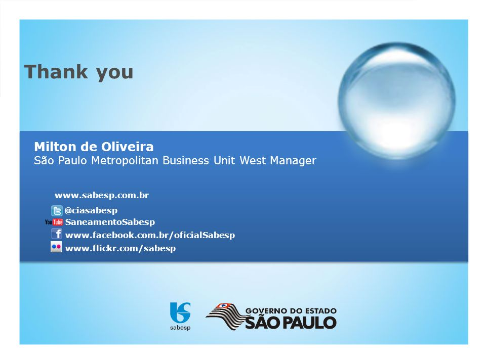 Milton de Oliveira São Paulo Metropolitan Business Unit West Manager
