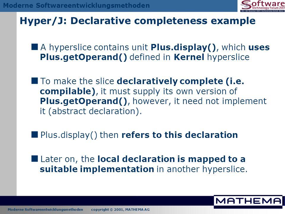 Hyper/J: Declarative completeness example