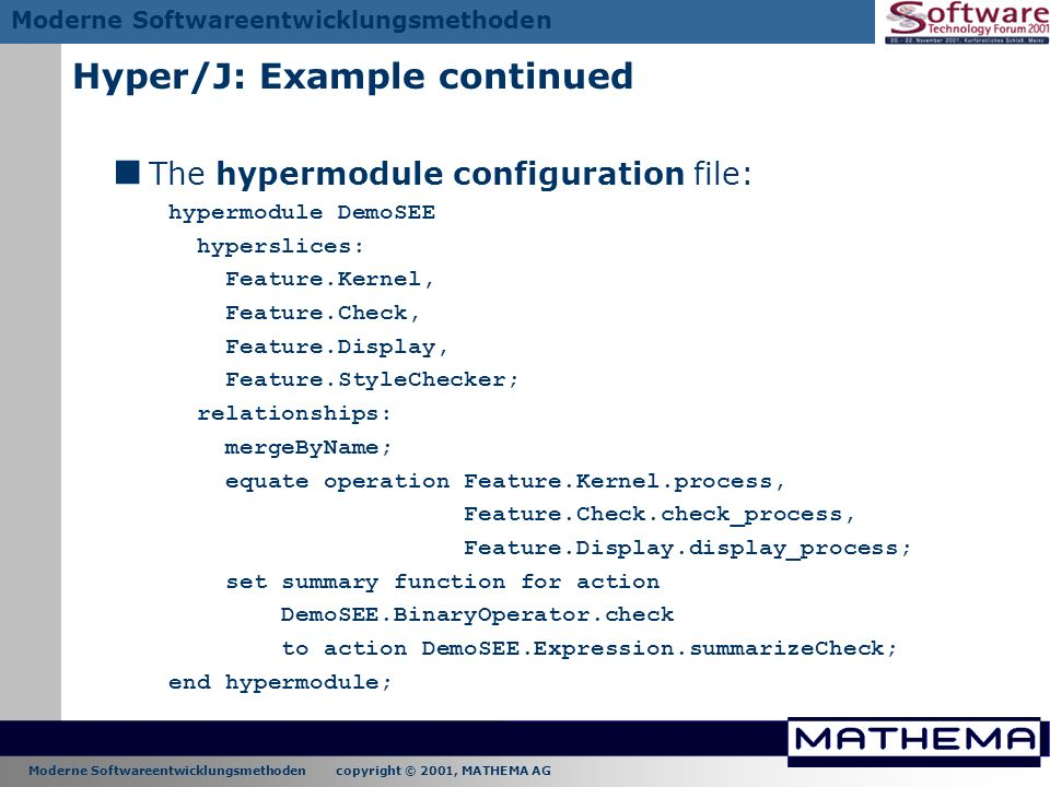 Hyper/J: Example continued
