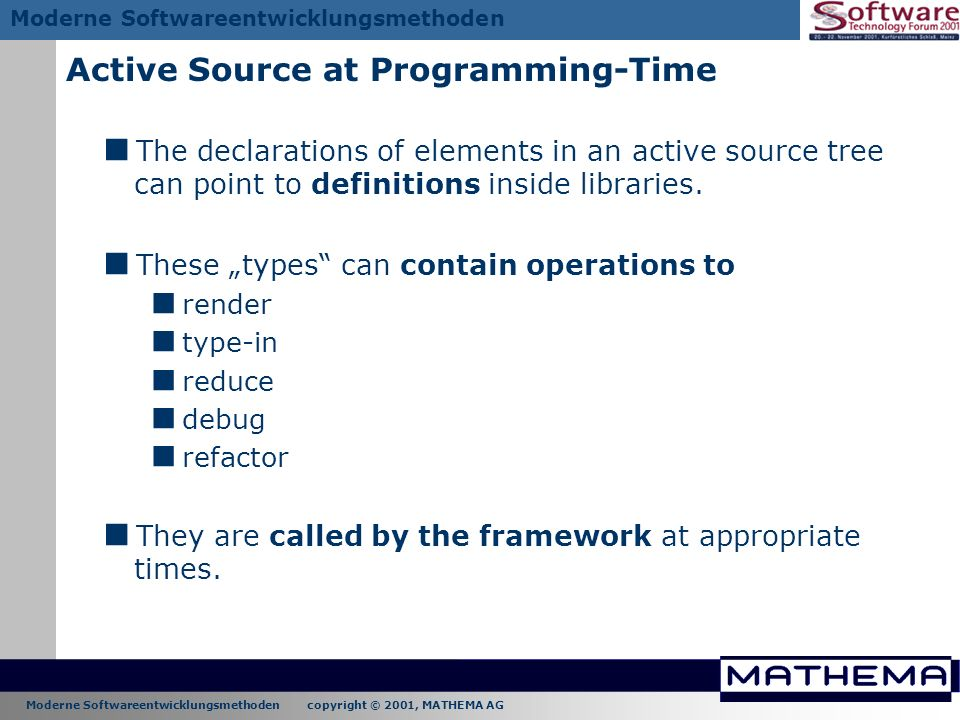 Active Source at Programming-Time