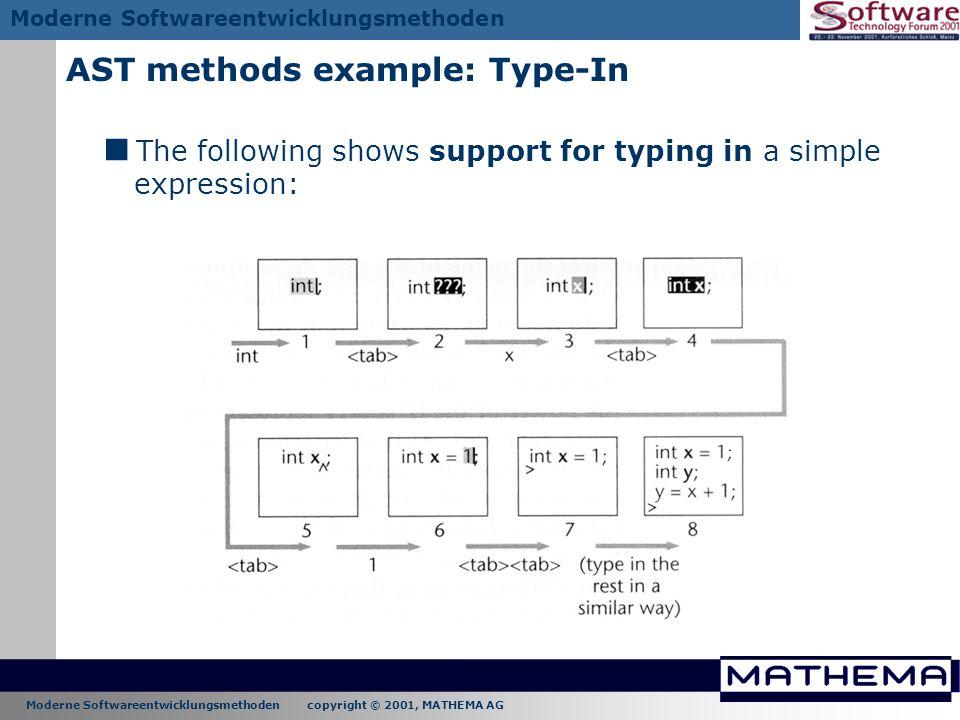 AST methods example: Type-In