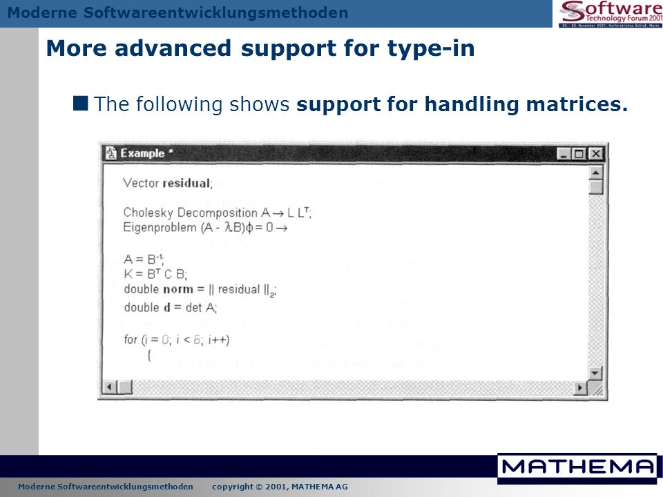 More advanced support for type-in