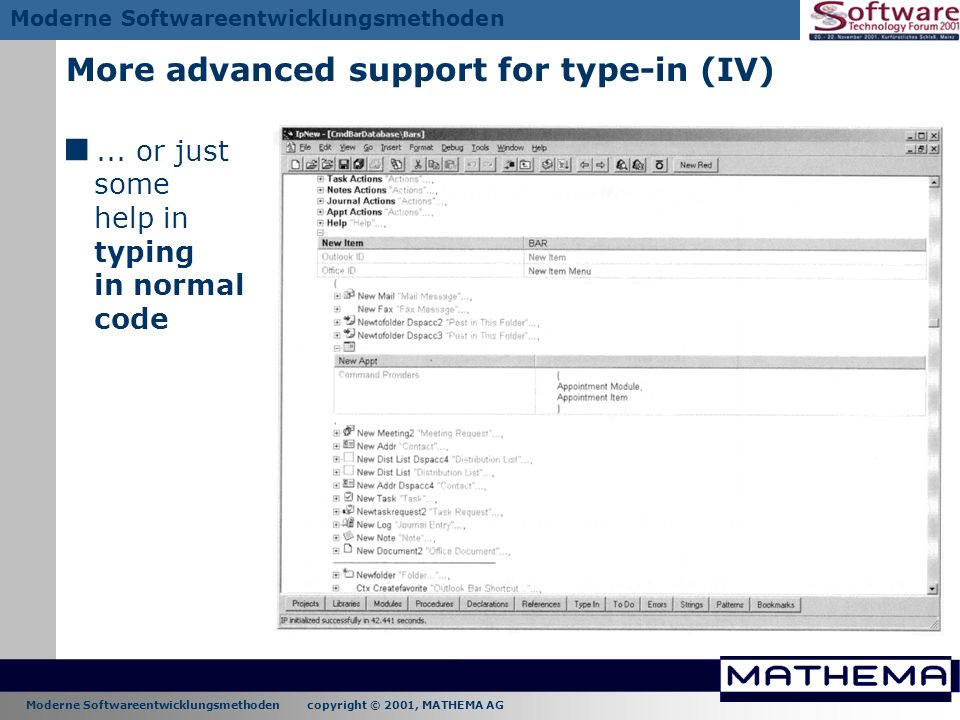 More advanced support for type-in (IV)