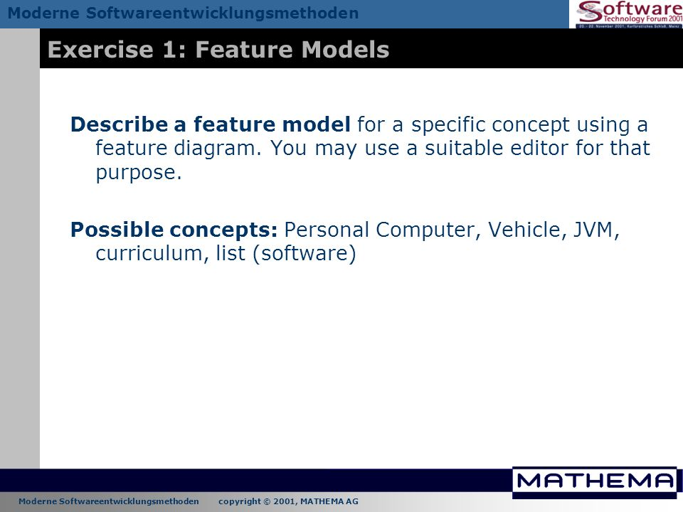 Exercise 1: Feature Models