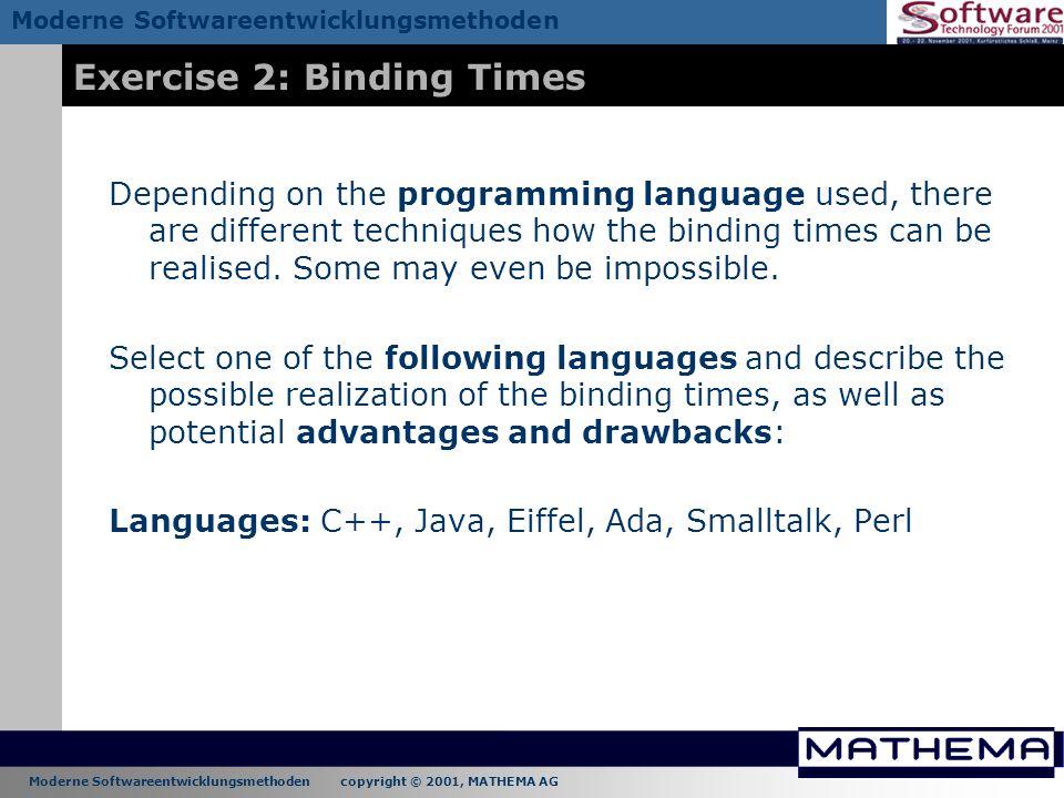 Exercise 2: Binding Times