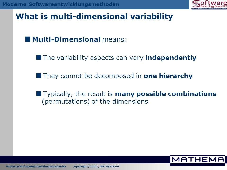 What is multi-dimensional variability