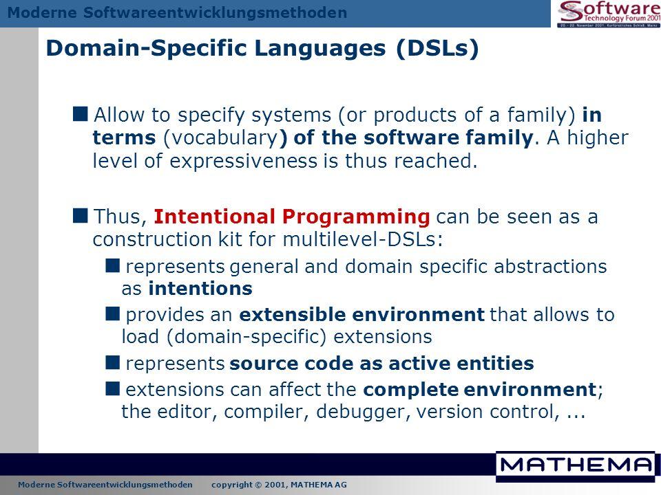 Domain-Specific Languages (DSLs)