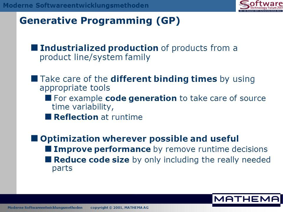 Generative Programming (GP)