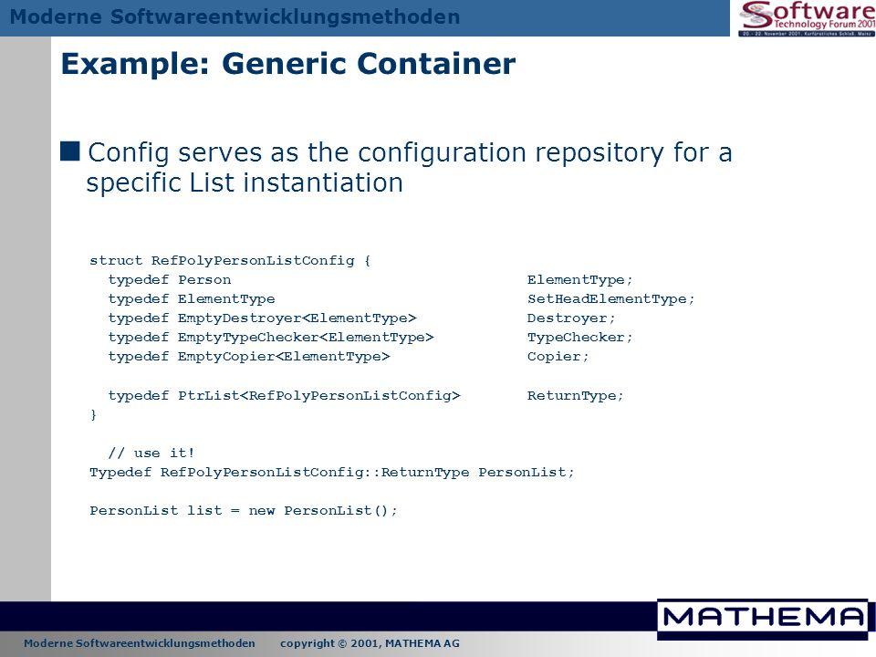 Example: Generic Container