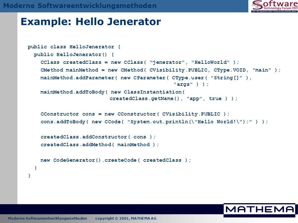 Example: Hello Jenerator