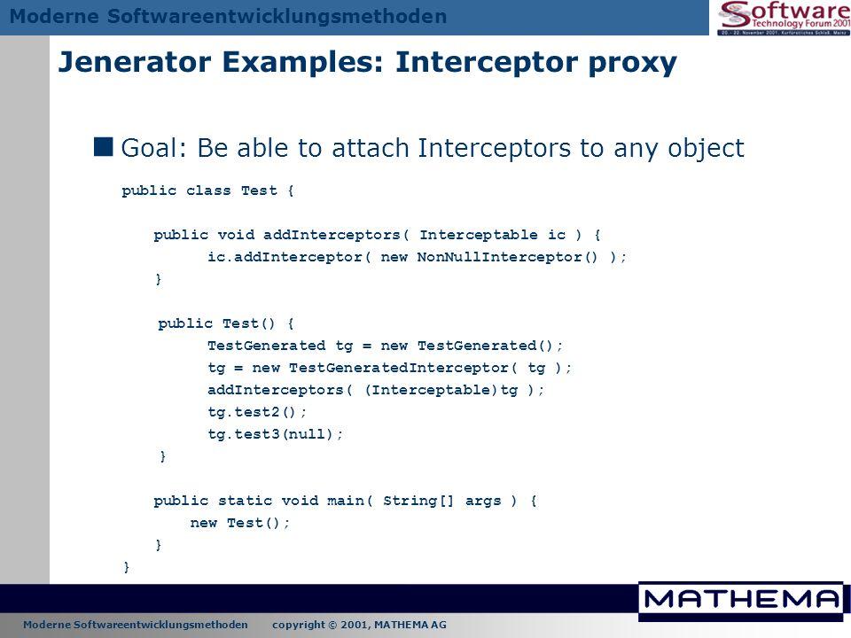 Jenerator Examples: Interceptor proxy