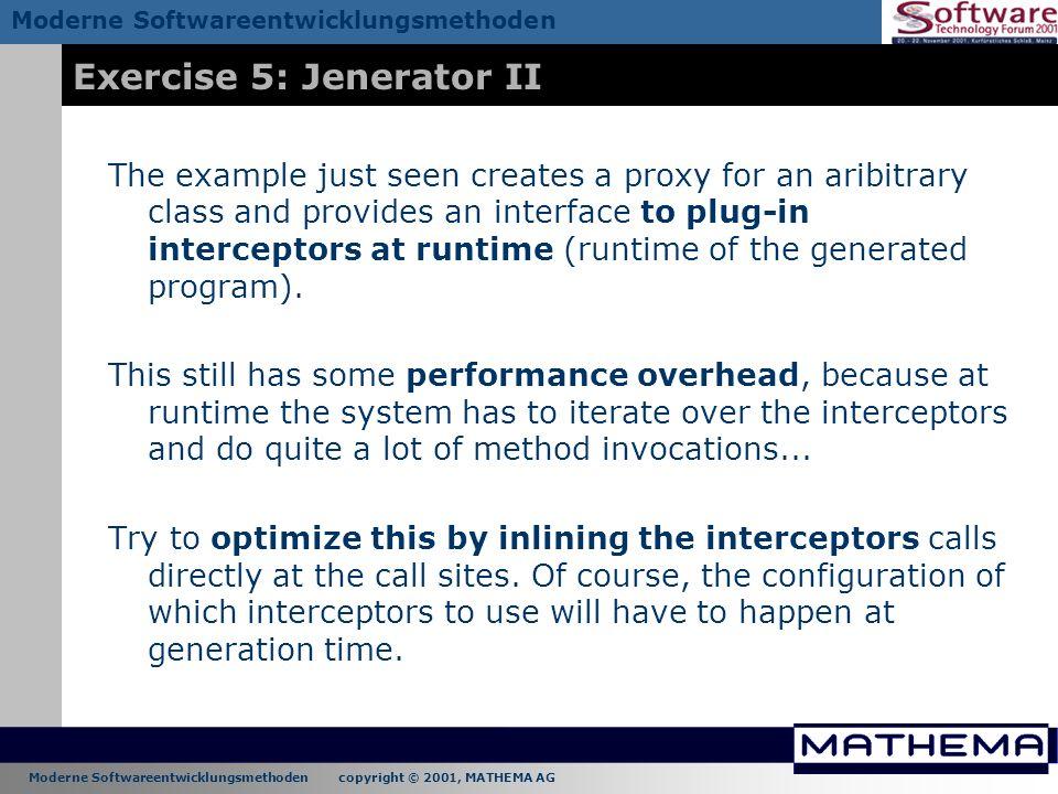 Exercise 5: Jenerator II