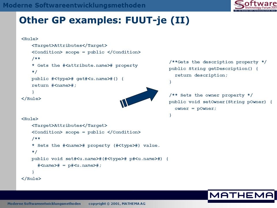 Other GP examples: FUUT-je (II)
