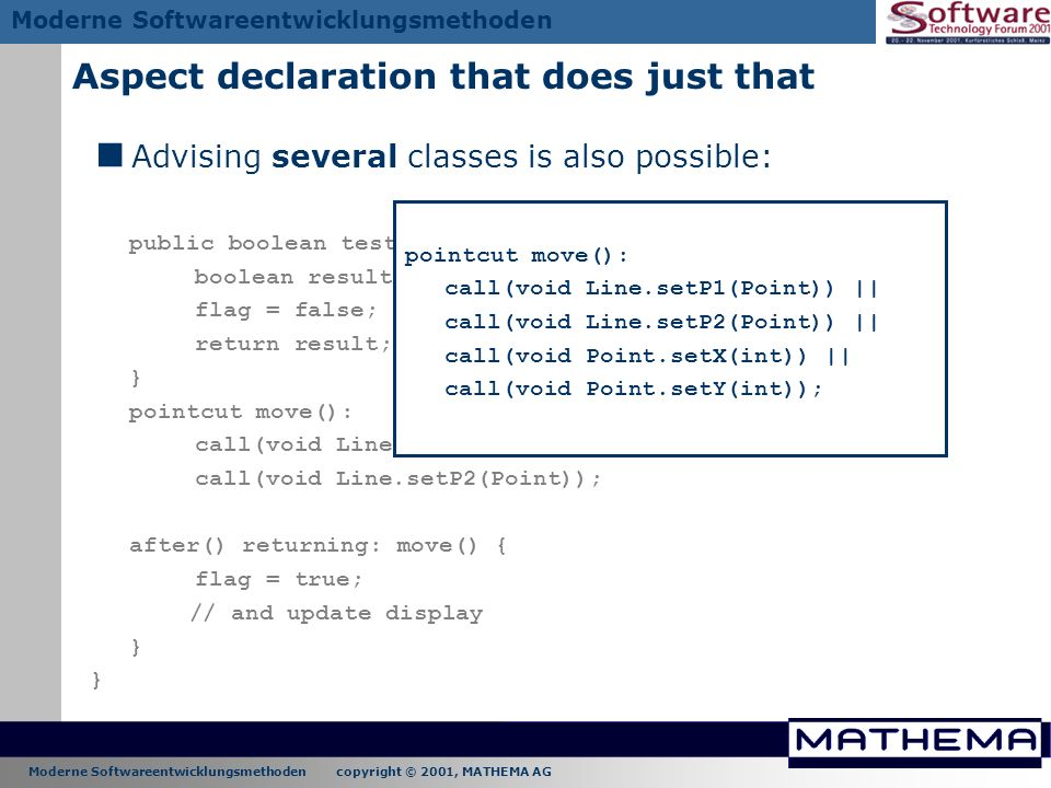 Aspect declaration that does just that