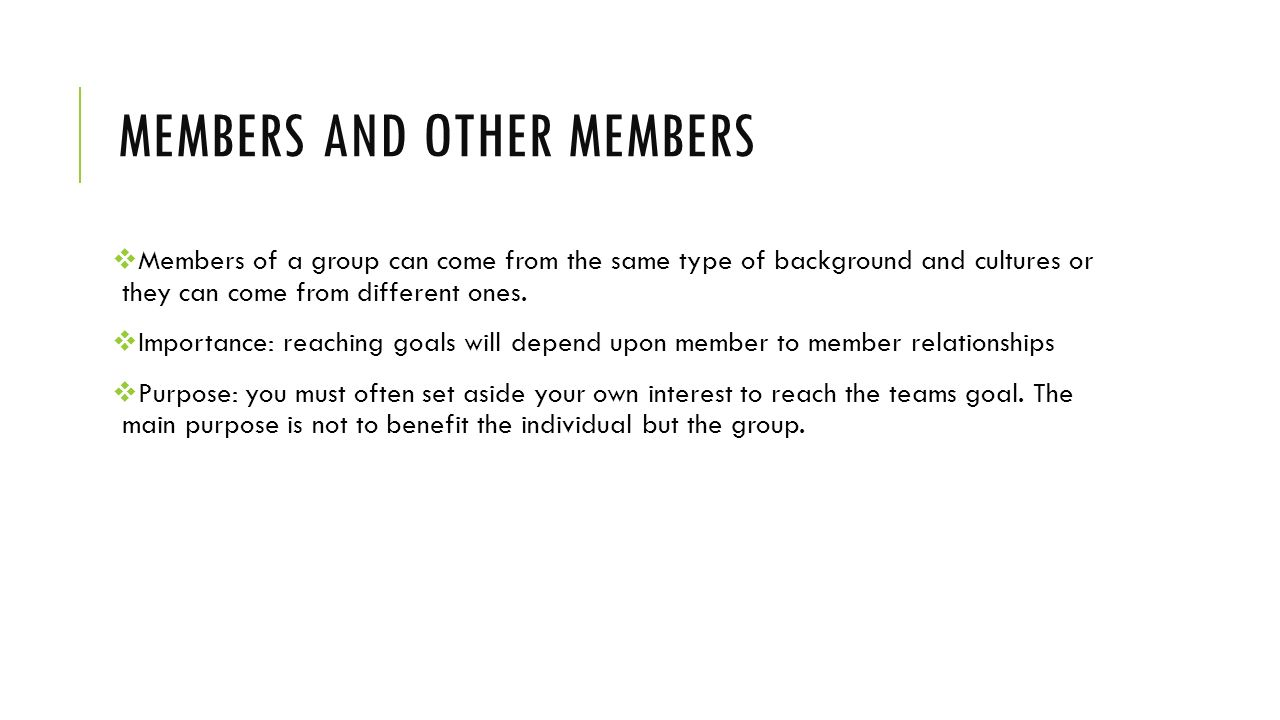 Members and other members