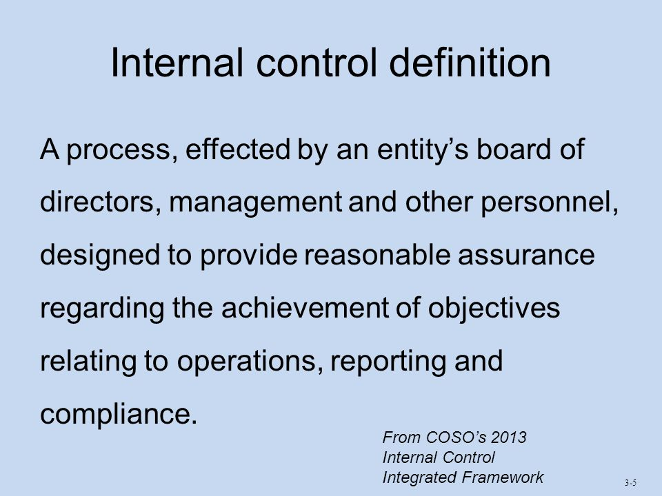 Chapter 3 Internal Controls Ppt Video Online Download