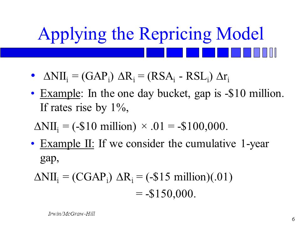repricing model Using the cumulative repricing gap model, what is the expected net interest income for a 2 percent increase in interest rates  chapter eight.