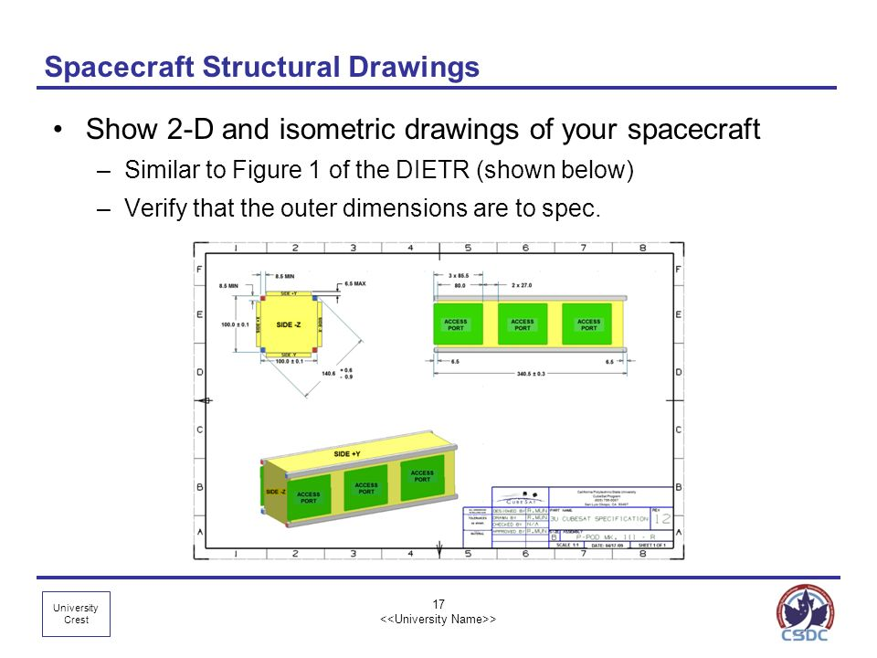 Spacecraft Structural Drawings