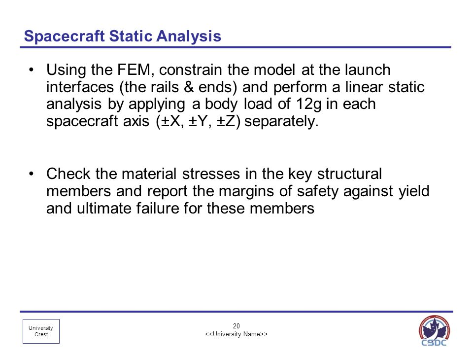 Spacecraft Static Analysis