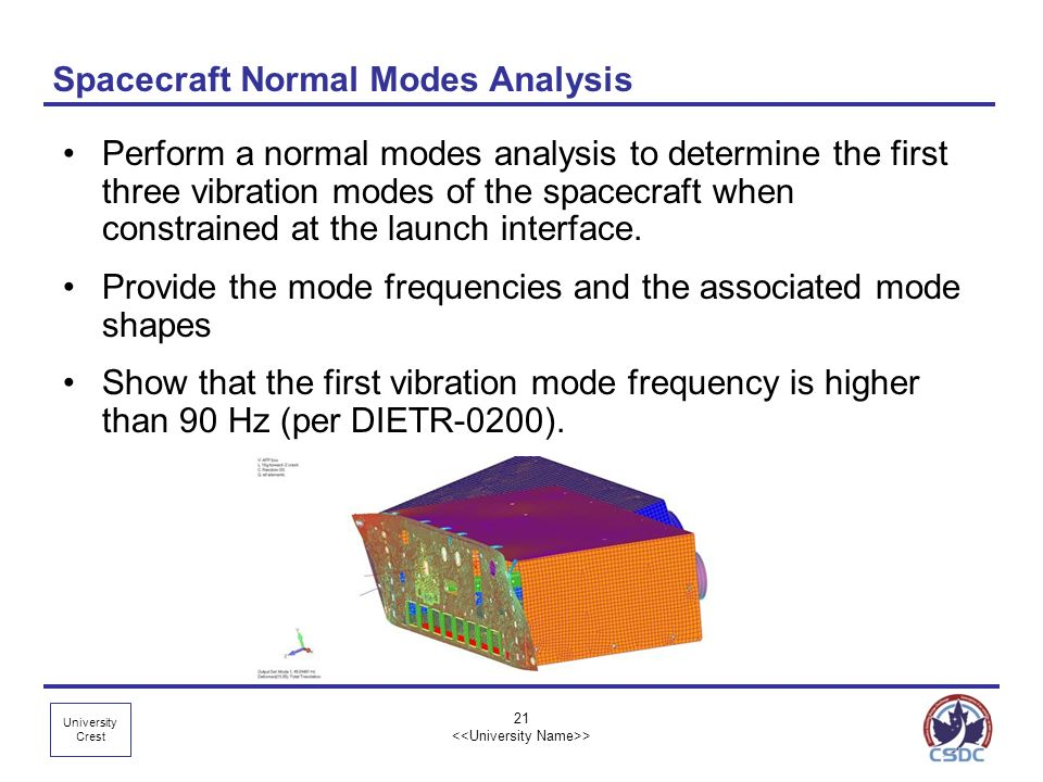 Spacecraft Normal Modes Analysis