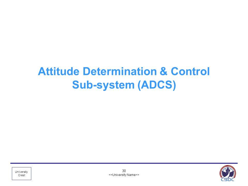 Attitude Determination & Control Sub-system (ADCS)