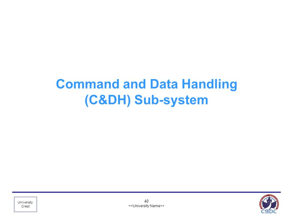 Command and Data Handling (C&DH) Sub-system