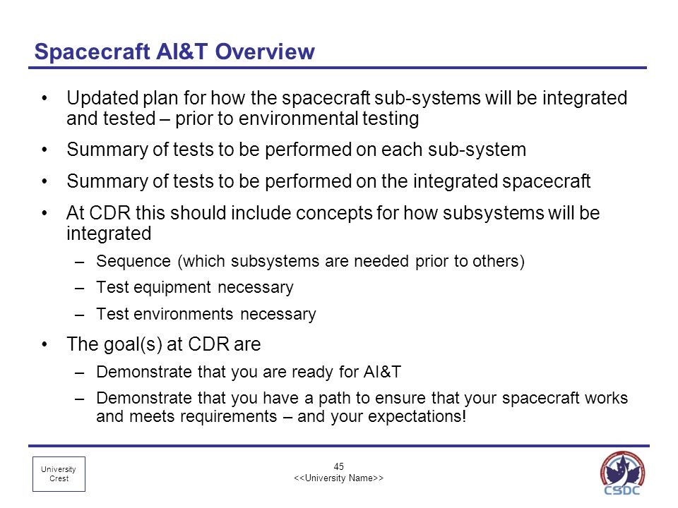 Spacecraft AI&T Overview