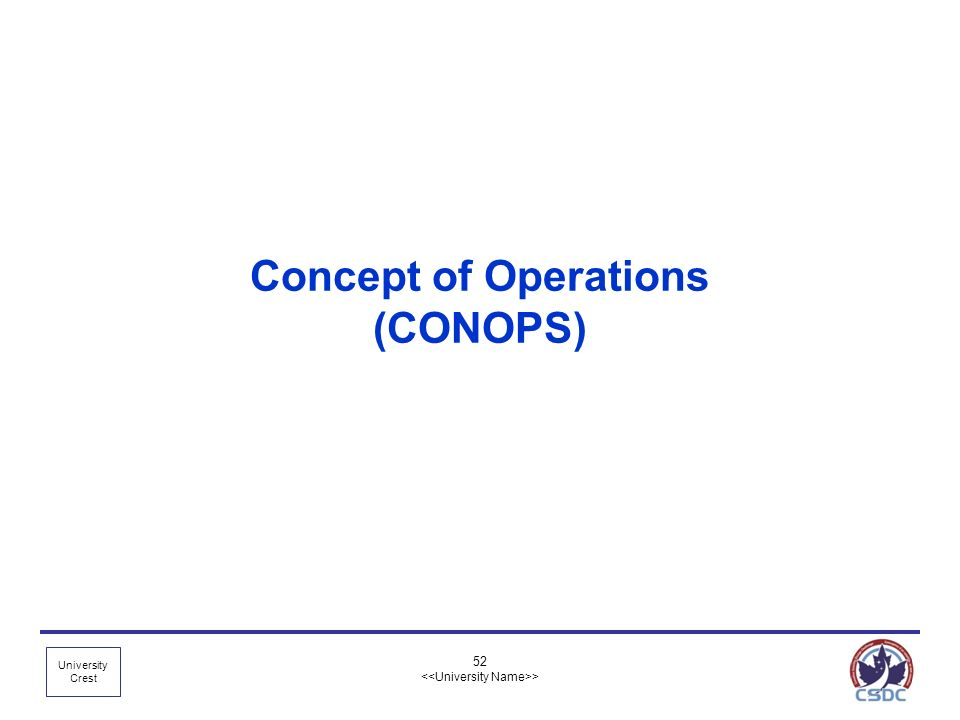 Concept of Operations (CONOPS)