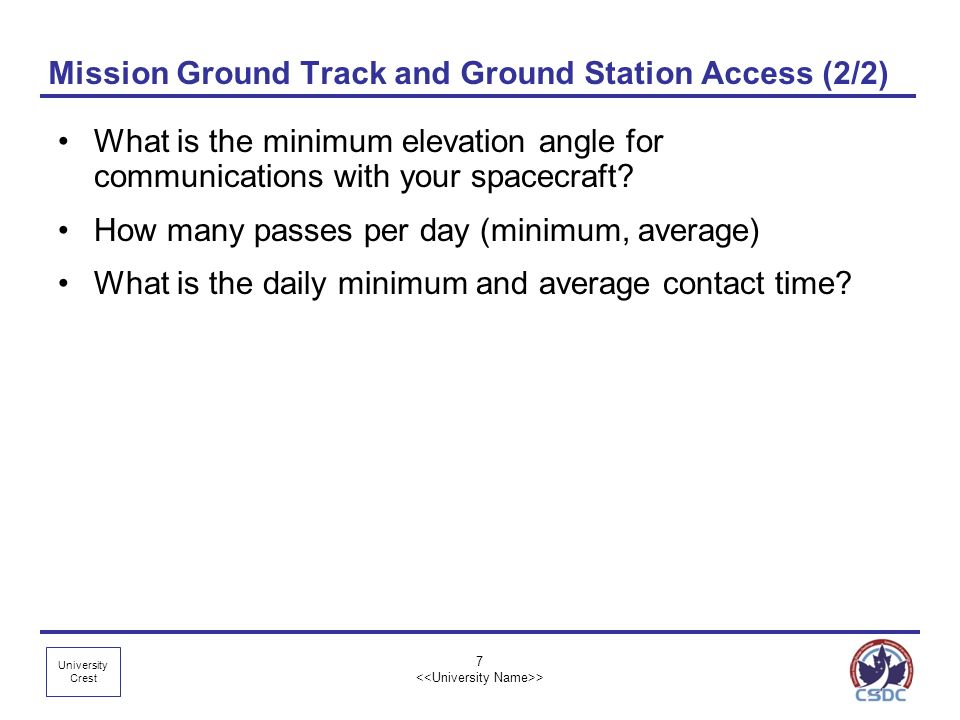 Mission Ground Track and Ground Station Access (2/2)