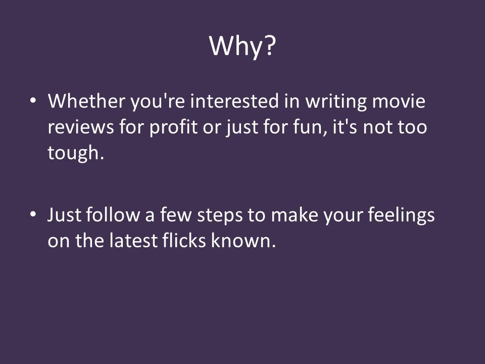 write a review of a film you have just seen