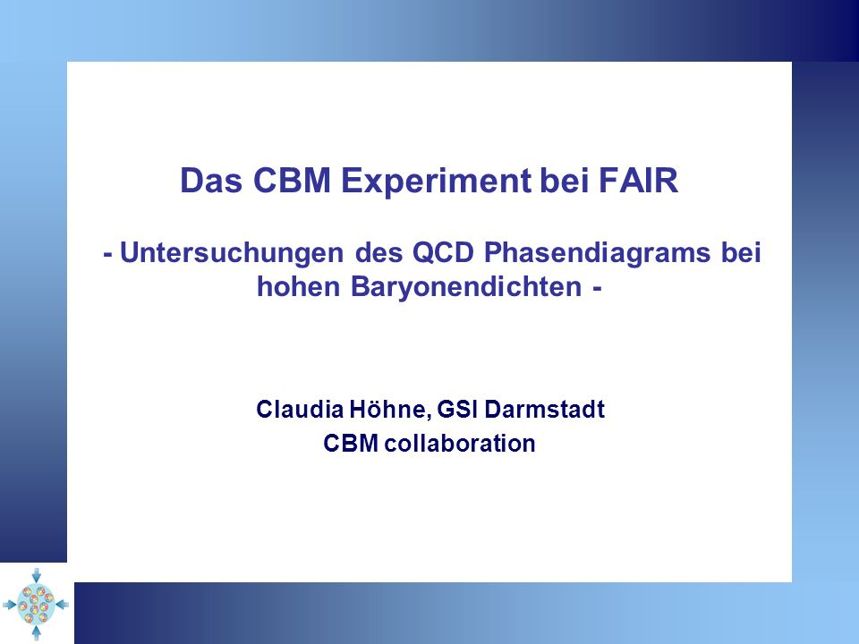 Claudia Höhne, GSI Darmstadt CBM collaboration