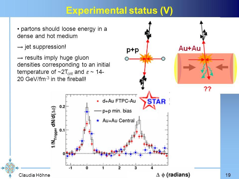 Experimental status (V)