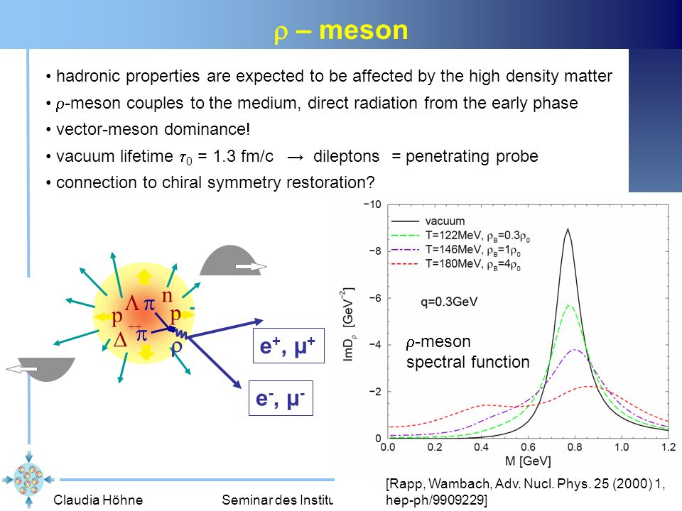 r – meson n  p p  ++ r e+, μ+ e-, μ-