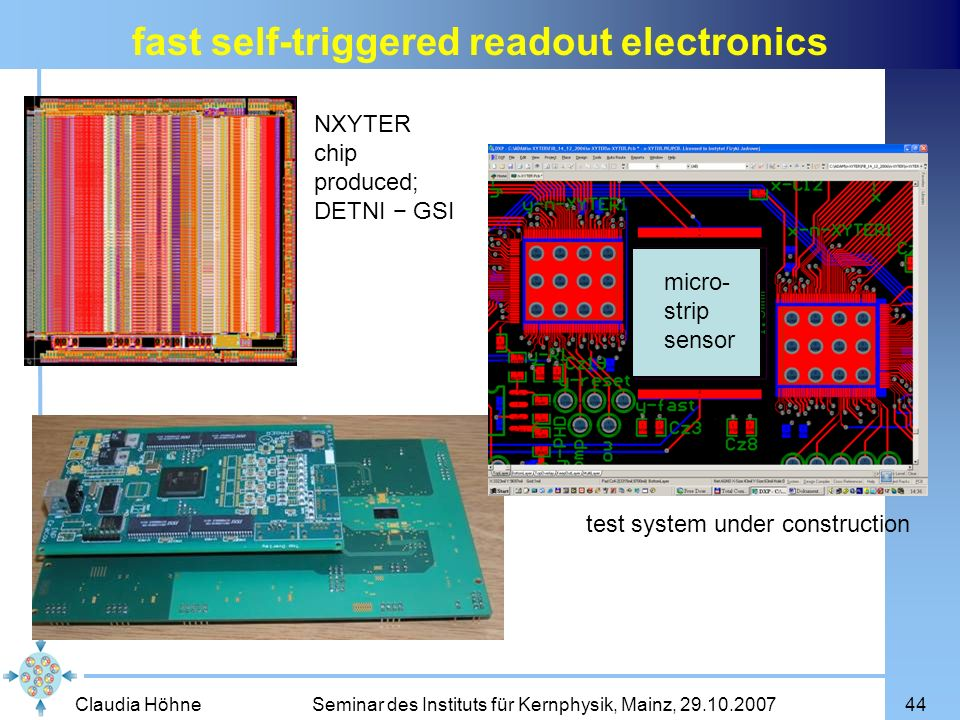 fast self-triggered readout electronics