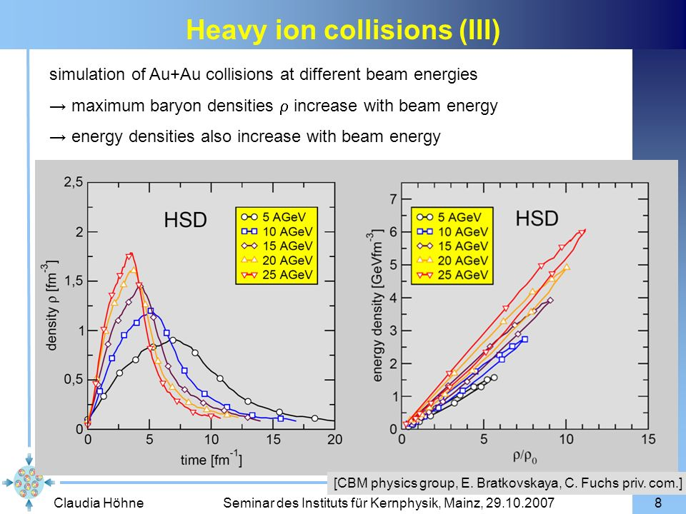 Heavy ion collisions (III)