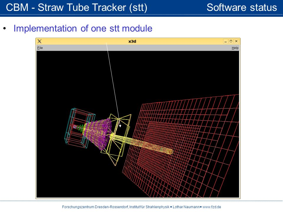 CBM - Straw Tube Tracker (stt) Software status