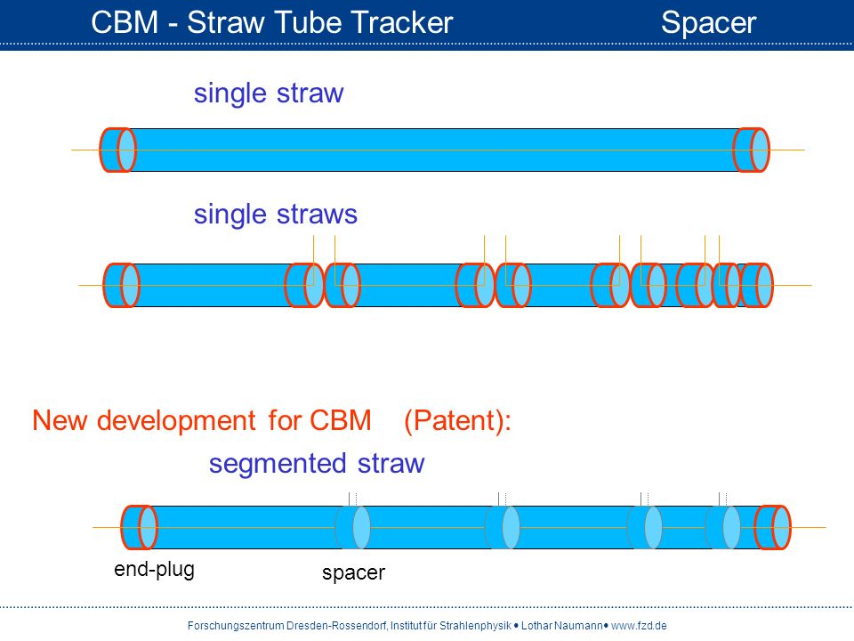 CBM - Straw Tube Tracker Spacer