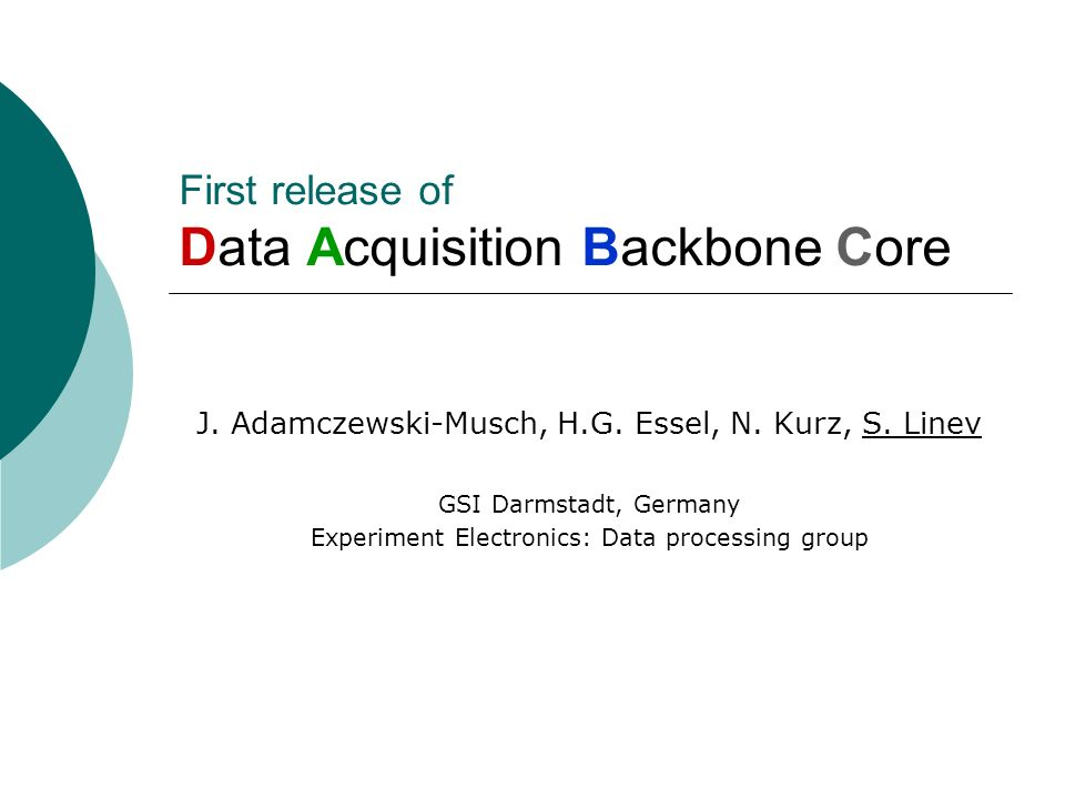 First release of Data Acquisition Backbone Core
