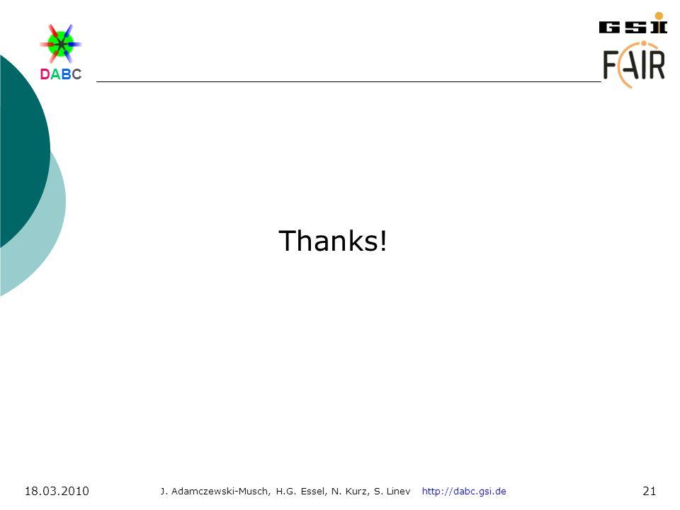 Thanks! 18.03.2010